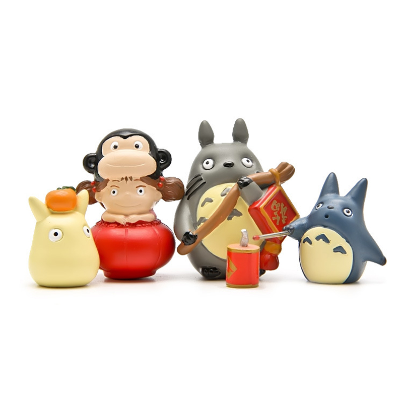 Φ_Φ4 unids/lote festivo suministros Totoro figuras Juguetes anime mi ...