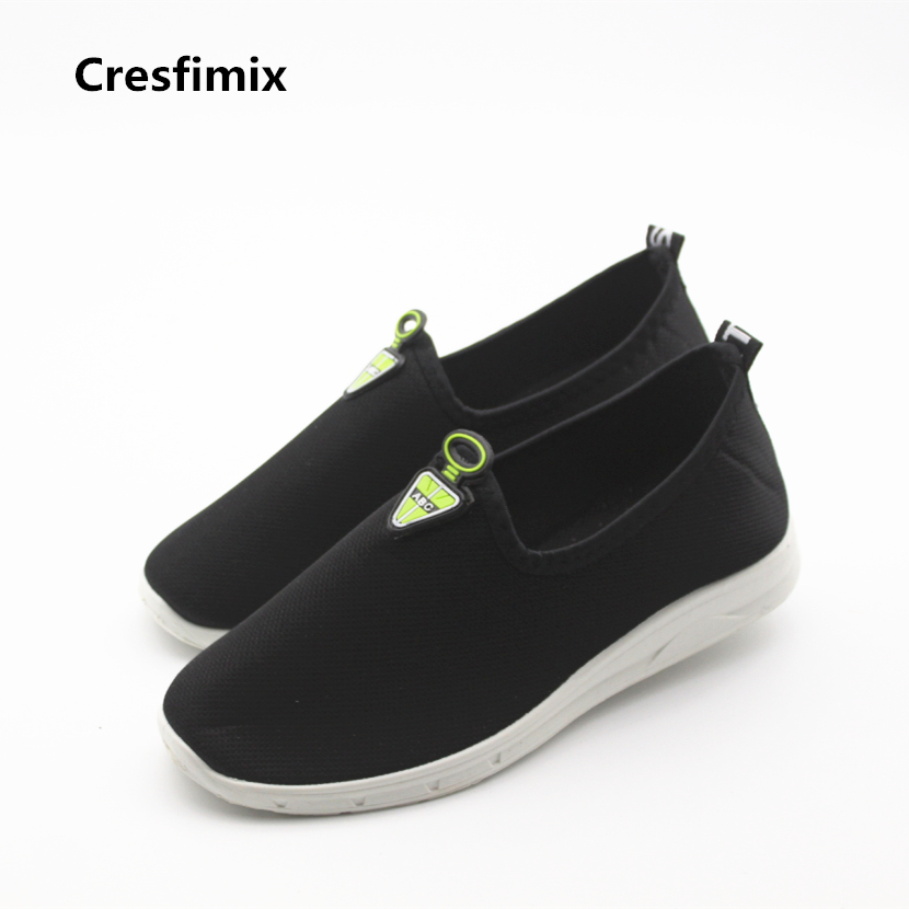 Cresfimix women spring & summer slip on shoes lady casual soft flat shoes sapatos femininas female cute mesh breathable shoes cresfimix sapatos femininos women casual soft pu leather pointed toe flat shoes lady cute summer slip on flats soft cool shoes