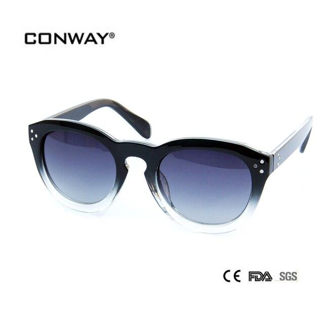 f52f0735f11 CONWAY 2017 Fashion Polarized Sunglasses Brand Designer Sun Glasses Women Polaroid  Round lenses Goggle Sunglasses PC00403