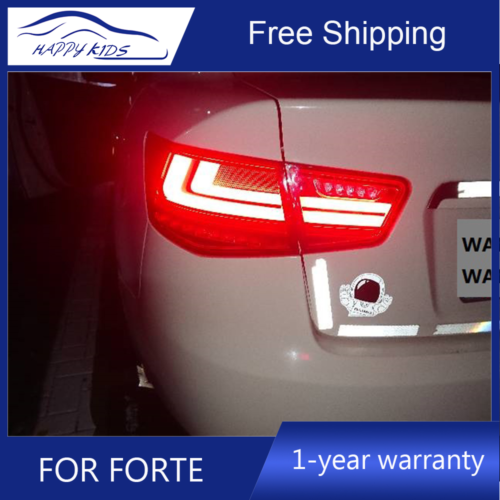 Car styling Tail Lights For Kia Forte 2009 2012 Led Tail Lights Fog lamp Rear Lamp