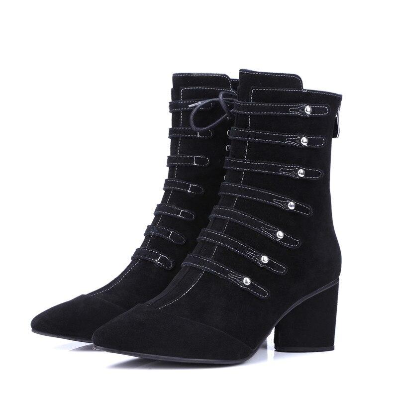 Moda Inverno Delle 2 Nero Della Le Stivali Per A Black Nuovo 1 0w8nOkP