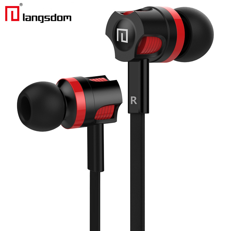 Original Langsdom JM26 3 5mm In Ear Stereo Earphones Headphone Headsets Super Bass Sound With Mic