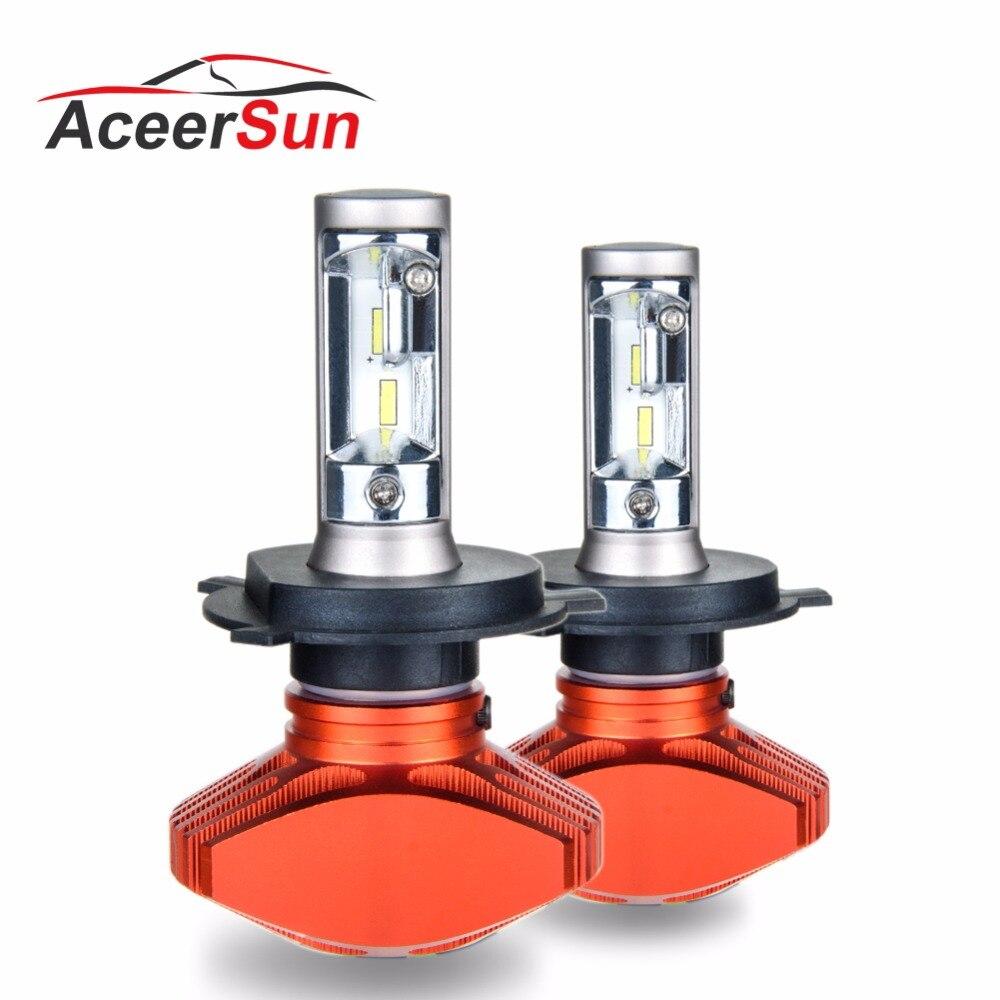 Aceersun Headlight H4 H7 H8 H9 H11 H1 9005 HB3 9006 HB4 HB2 Led Bulb H7 80W 12000Lm Car Light 12V Fog Lamp Automobiles 6500K CSP