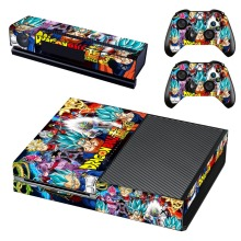 Anime Dragon Ball Super Skin Sticker Decal For Microsoft Xbox One Console and 2 Controllers For Xbox One Skins Stickers Vinyl
