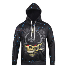 New Fashion Mens Hoodies Hip Hop 3d Skull Pattern Hoodie Sweatshirt For Men Brand Mens Streetwear Sudaderas Hombre Hooded Coat