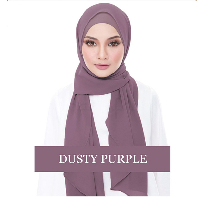2019 Women Plain Cotton Jersey Lightweight Hijab Scarf Muslim Women Chiffon Hijabs Full Cover Cap Islamic Clothing Arab Headwear
