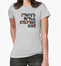 """Vinyl will never die"" women's t-shirt"