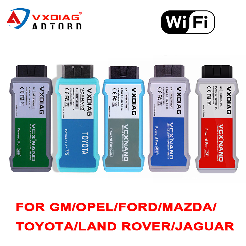 NEWEST VXDIAG VCX NANO for GM/OPEL/Ford/Mazda/toyota/LandRover/Jaguar/5054 Diagnostic Tool High Quality WIFI version
