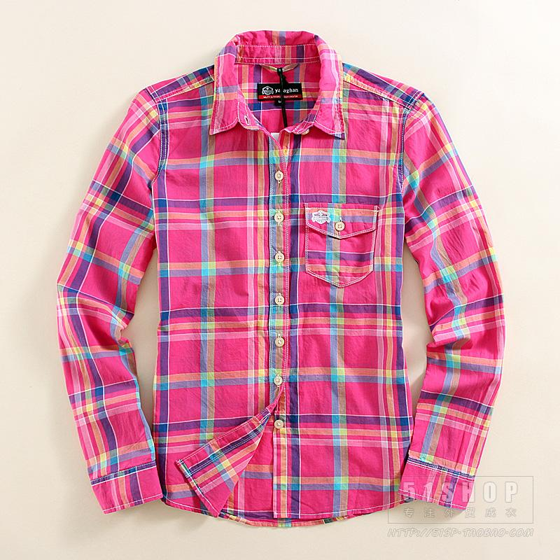 Fashion Cotton Women's Blouses Sanded Female Long-sleeve Plaid Shirt Girl's  Flannel Shirts Tops Plus Size M-XXL Red Blue - Online Get Cheap Red Plaid Flannel Shirt -Aliexpress.com Alibaba