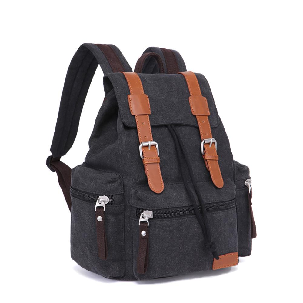 Retro Style Men Vintage Canvas Briefcase School Camping Bag Messenger  Backpack Capacity Travel Backpack Small-in Backpacks from Luggage   Bags on  ... 04d05e8e038