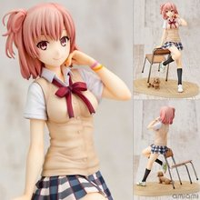 18cm Height Yuigahama Yui Sitting with Chair School Girl Action Figure Model