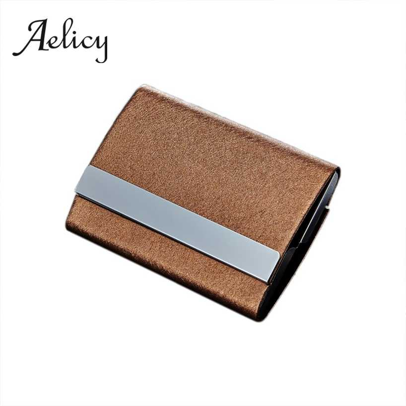 Aelicy Men Women Color Traveling Stainless Steel Protector Credit Card Package Card Holder Clamshell Business Card Case Box0