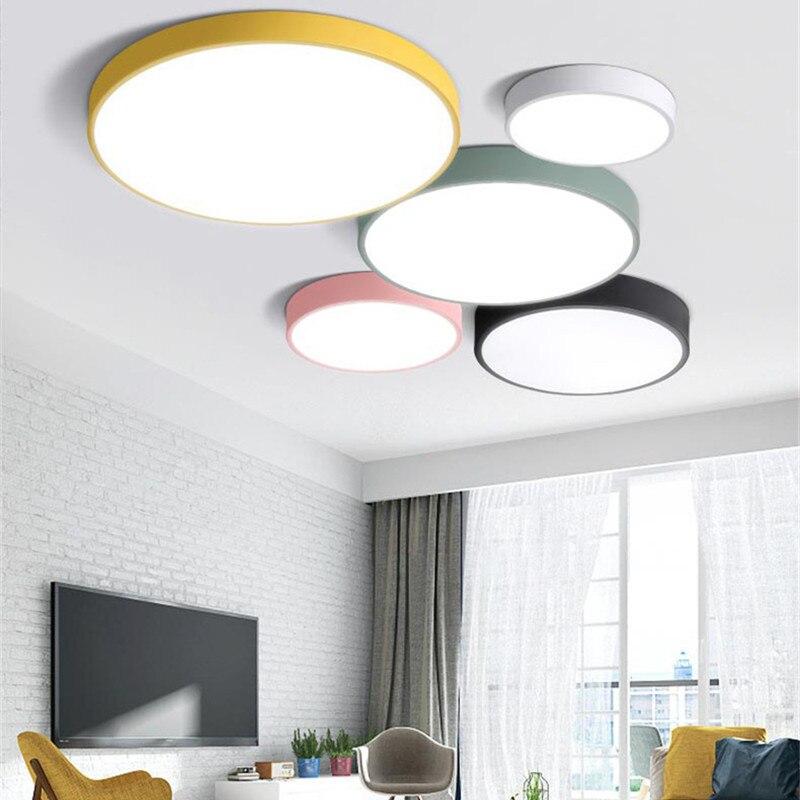 Современные упрощенный ультра-тонкий 5 см светодиодный потолочный светильник multicolor  ...