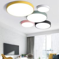 Modern Simplified Ultra Thin 5CM LED Ceiling Lamp Multicolor Art LED Ceiling Light For Living Room