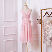 New 2019 the wave pink fairy white gauze with shoulder straps gentleness sweet holiday beach dress все цены