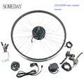 Когда-нибудь 24V250W электрический велосипед конверсионный комплект задний поворот ступицы моторное колесо 16-28/29 дюймов 700c колесо с дисплеем ...