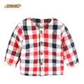 Fashion Plaid Winter Kids Padded Jacket Children Clothing Infant Overcoat O-Neck Boy Girl Baby Parkas Coat Thick Outerwear&Coats