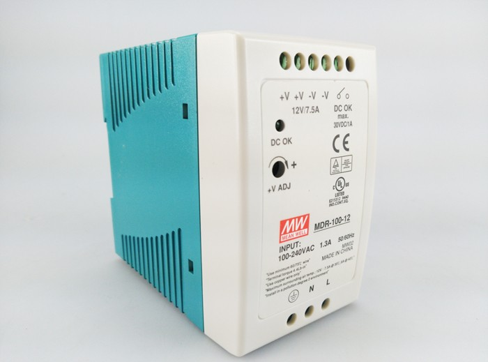 Original MEAN WELL 100W Single Output Din Rail Switching Power Supply MDR-100 mean well original mdr 100 12 12v 7 5a meanwell mdr 100 12v 90w single output industrial din rail power supply