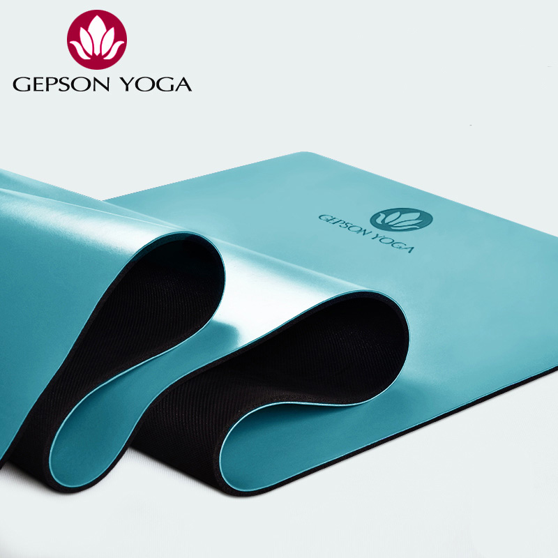 Heathyoga PRO Non-Slip Rubber Yoga Mat With Body Alignment