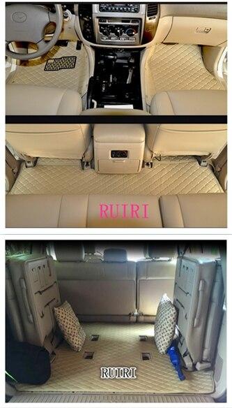 Meilleure qualité! Tapis de sol spéciaux faits sur commande de voiture pour Lexus LX 470 7 sièges 2008-1998 tapis imperméables pour LX470 2003, livraison gratuite