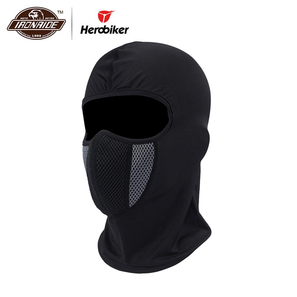 HEROBIKER Face Mask Motorcycle Hats Windproof Tactical Face Shield Helmet Beanies Training Mask Cycling Ski Moto Balaclava Caps