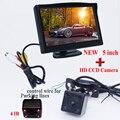 Frete grátis, Sistema de Assistência de Estacionamento 2 em 1 Digital de 5 polegadas TFT LCD espelho Monitor Do Carro + 170 Graus Mini Câmera de visão Traseira Do Carro