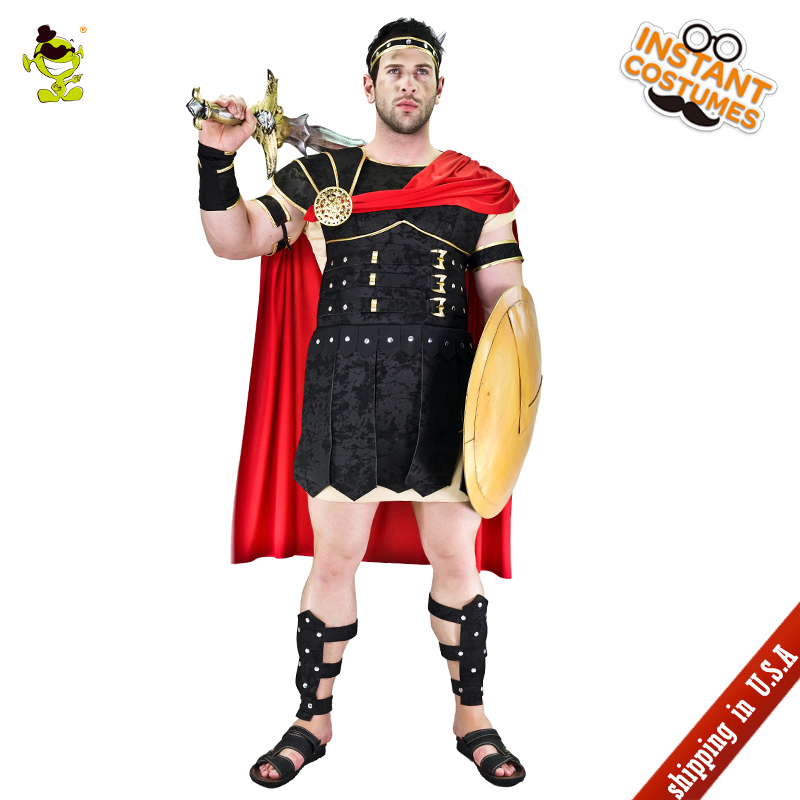 QLQ  Adult Men's Brave Roman Gladiator Cosplay Costume Performance Super Roman Warrior Clothes Role Play Warrior Gladiator
