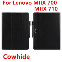 Case Cowhide For Lenovo Ideapad Miix 700 Genuine Protective Smart cover Leather Tablet For MIIX4 Pro miix 710 Protector 12Cover