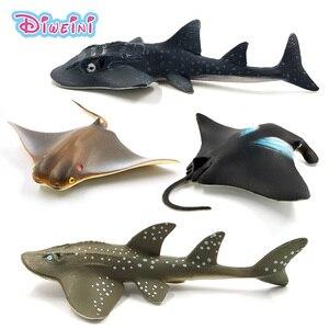 Image 1 - Symulacja Little devil fish Manta Ray guitarfish rysunek plastikowy model zwierzęcia wróżka dekoracja wnętrz (rękodzieło) decor prezent dla dzieci