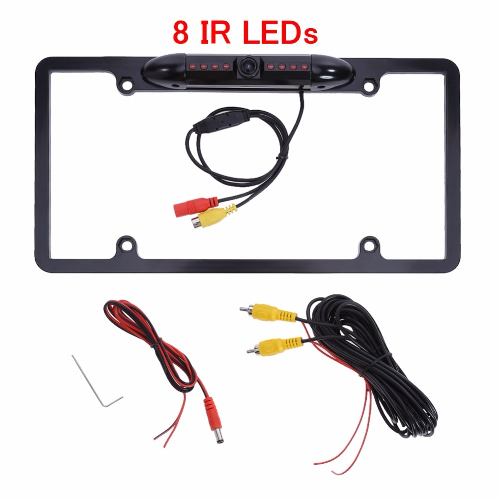 Metal Car Number License Plate Frame Holder Rear View Backup font b Camera b font US