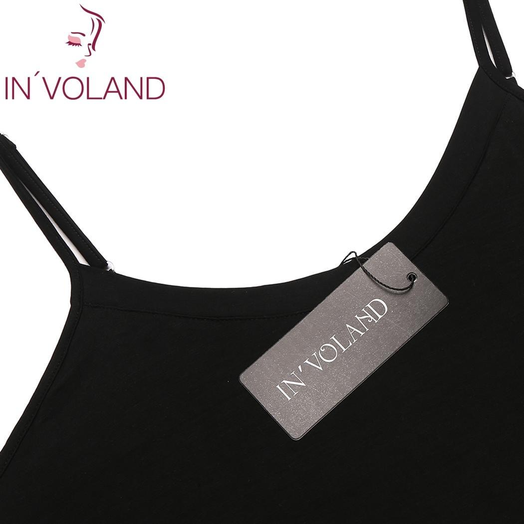 IN'VOLAND Plus Size Women Nightgown Sleepwear Dress Lounge Sexy Adjustable Strap Solid Large Home Sleepshirts Nightwear Big Size 5
