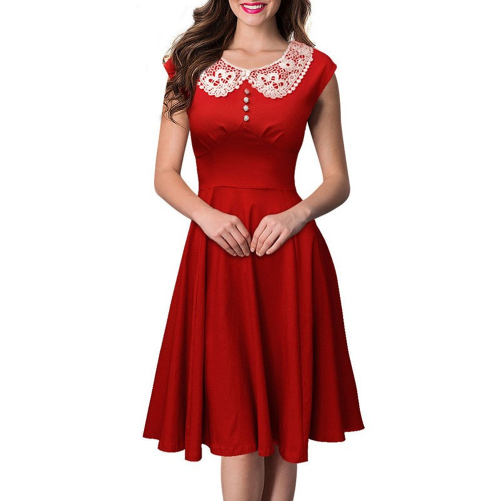 Hot Sale vintage Party Casual Retro Dress Women Dress ...