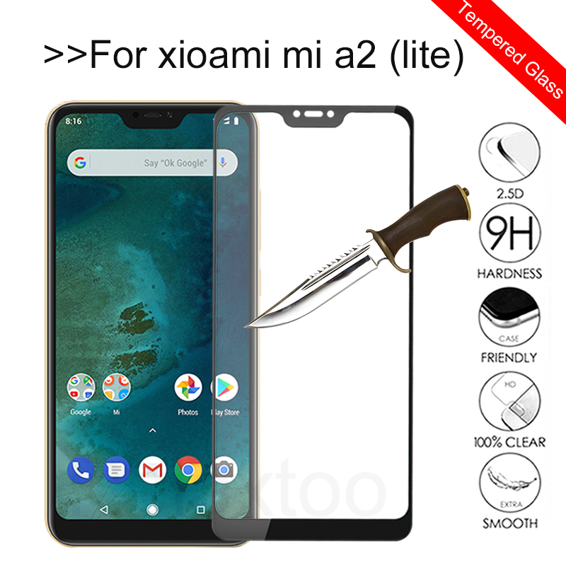Xiomi Mi A2 Lite Tempered Glas For Xiaomi Mi A2 Lite Glass Screen Protector Xaomi Mia2 A2lite 6X A 2 Light Protective Film Cover