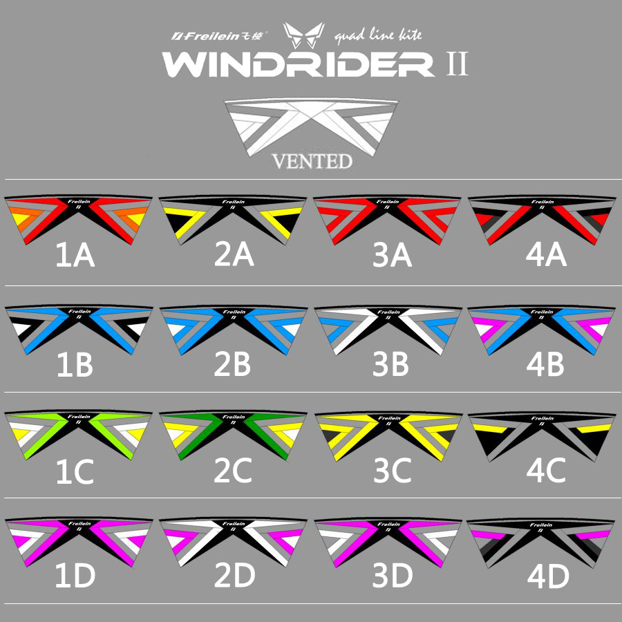 Professional 2.42M Vented Stunt Kite Easy Flying Power Sport Kite 4 Line Outdoor Show 16 Colors