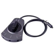 Новый цифровой оптический аудио коммутатор 3-способ выбор кабеля SPDIF кабель toslink концентратора для CD-плеер gdeals