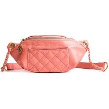Fanny πακέτο τσάντα μέσης γυναικών Γύρος ζώνης τσάντα Luxury Brand δερμάτινο τσάντα τσάντα ροζ μαύρο κίτρινο 2018 νέα μόδα υψηλής ποιότητας