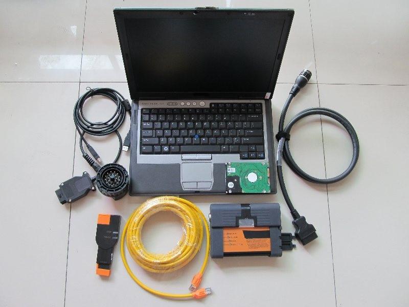 Купить с кэшбэком 2020.06 newest version for bmw code reader expert mode 500gb hdd software + for bmw icom a2+D630 Laptop (4G) ready to use