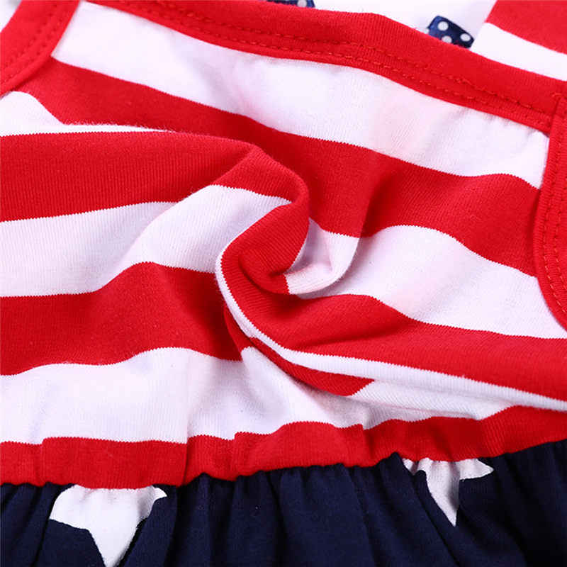 اللباس طفلة الرابع من يوليو الزي الصيف طفل الملابس طفل حمالة اللباس مخطط نجوم أشرطة دعوى الأطفال الملابس
