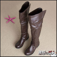 Shingeki No Kyojin Scarpe Mikasa Ackerman Cosplay Stivali Levi Attack on Titan Cosplay Boot(China)