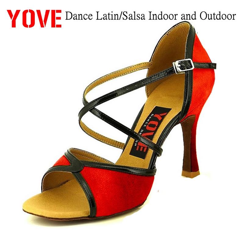 YOVE Style LD-3052 Zapatos de baile Bachata / Salsa Zapatos de baile para interiores y exteriores para mujeres