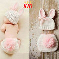 Cartoon Rabbit Newborn baby crochet christmas hat shorts with pompom adorable knit hats New born Photography props KD102