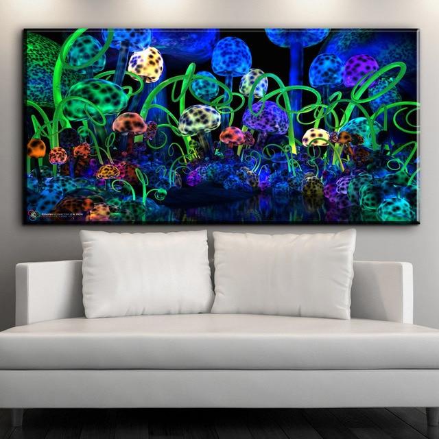 ZZ1602 moderne dekorative leinwand art magie pilze abstrakte ...