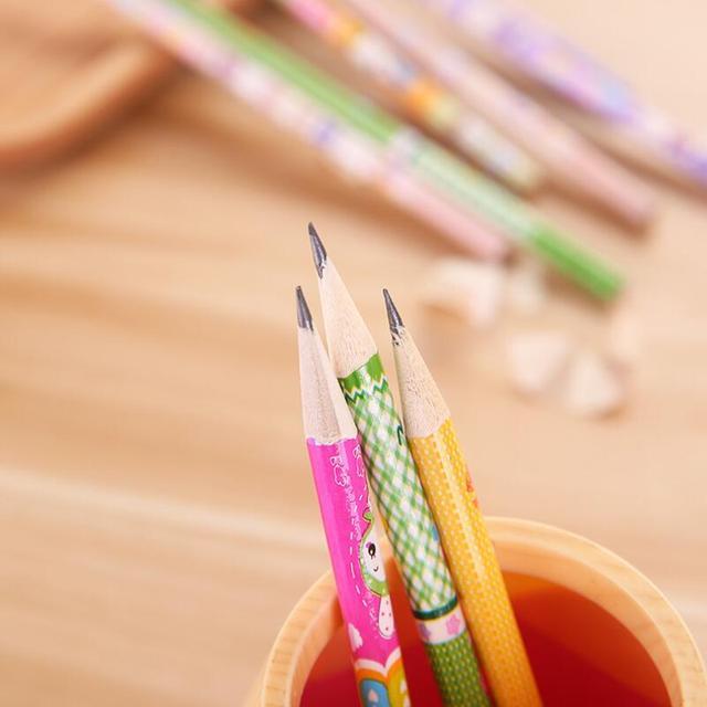 Livraison gratuite 12 pièces/lot cadeau pour enfants école et maternelle crayon dessin animé imprime enfants bois et dessin crayons Standard Non toxique HB