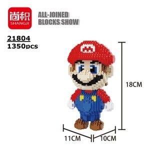 Image 5 - Balody construcción de edificios de dibujos animados para niños, minibloques, Bowser, juguetes, Mario, Yoshi, bloques de modelismo, Wario, Anime, Brinquedos, regalos, 16022