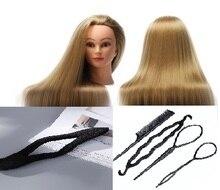 CAMMITEVER sintetinio pluošto manekeno galva (ilga ir stora) kirpyklos treniruotės galvos manekeno kosmetologijos lėlės galva su įrankiais