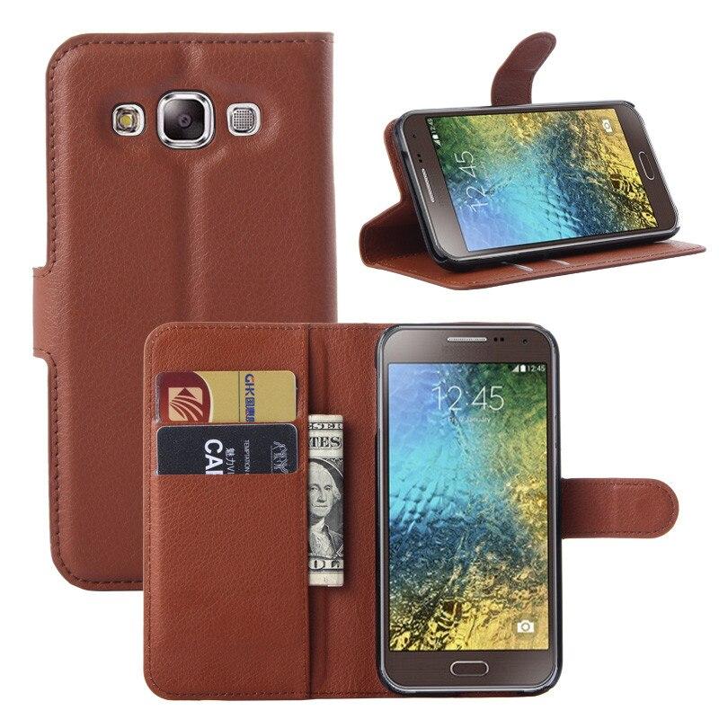 Case For Galaxy E5 E500F SM-E500F Luxury Wallet PU Leather Case For Samsung Galaxy E5 E500 Stand Flip Card Hold Phone Cover Bags