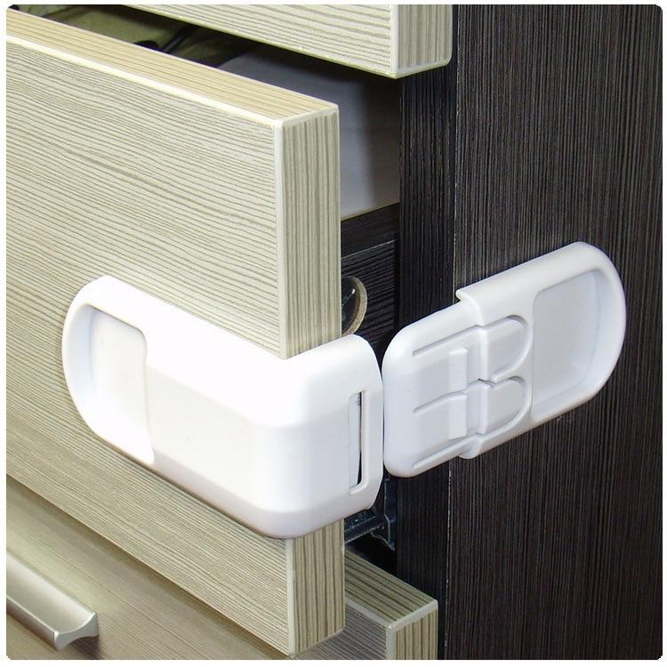 5pcs 2017 Child Safety Drawer Locks Cabinet Door Kids Safty Drawer Lock Baby High Quality Wholesale Plastic white