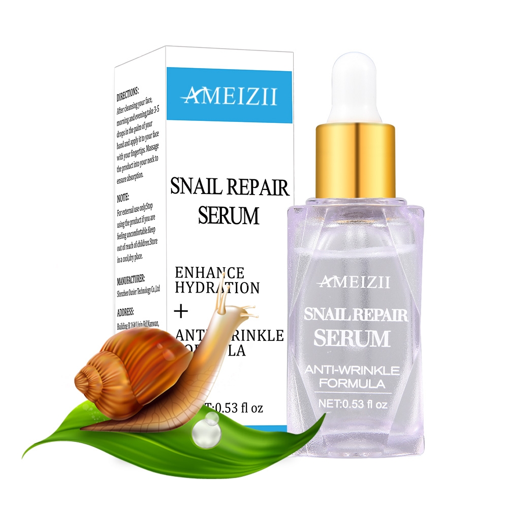 AMEIZII Snail Repair Face Serum Anti Wrinkle Aging Skin Care Moisturizing Anti-acne Hyaluronic Acid Essence Cream