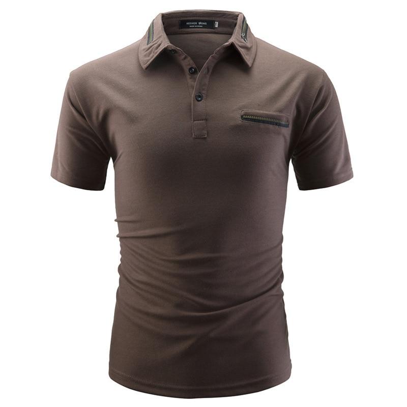 Men's Casual Lapel mens clothing T Shirt brand men tshirts  Short Sleeve Summer Fashion Pullover Tops