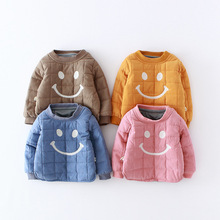 Baby Girls Boys Outwear Cotton Children Infant Cute Smile Winter Thikck T Shirt Sweatshirt Baby Boys Sweater Baby Boys Clothes